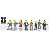 Simpsons 25th S3 - Bret Hart , Leonard Nimoy, Lisa Simpson, Michael Stipe, Mike Mills, Milhouse Van Houten, Mr Burns,Penn Jilette,Peter Buck,Stephen King, Teller