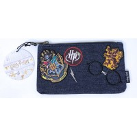 Loungefly - Harry Potter Hogwarts Demin Pouch